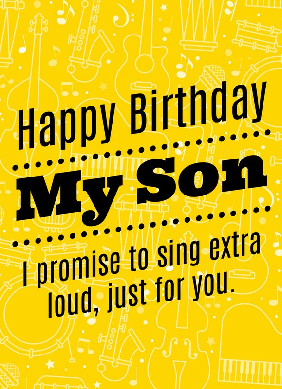 Pleasing Happy Birthday Wishes For Son Personalised Birthday Cards Veneteletsinfo