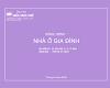 Hồ sơ thiết kế kỹ thuật thi công nhà phố Hà Huy Giáp- Quận 12 - tháng 4