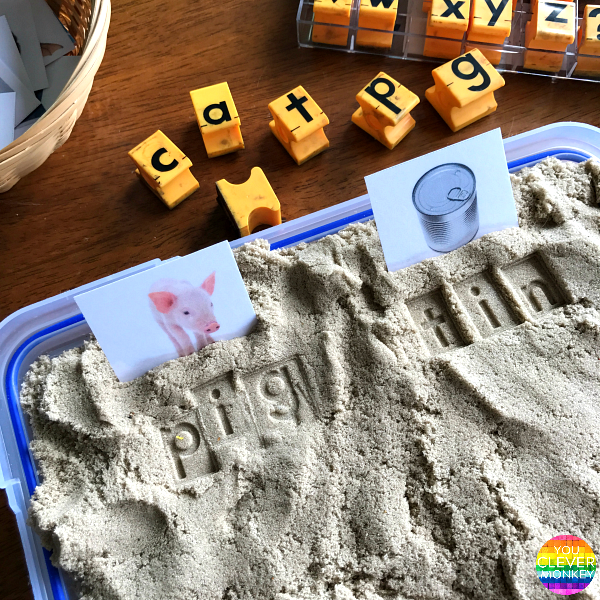 How To Help Children Learn To Spell - teaching ideas and printables help your child learn how to spell by starting with CVC words | you clever monkey