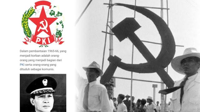 "GEGER!  di Wikipedia Ditulis PKI Adalah Korban Juga Menuduh Pak Harto dan TNI ""Pembunuh"""