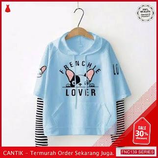 FNC139S27 Sweater Jaket Hodie Frenchie Wanita Lover Babyterry Serba 40 Ribuan