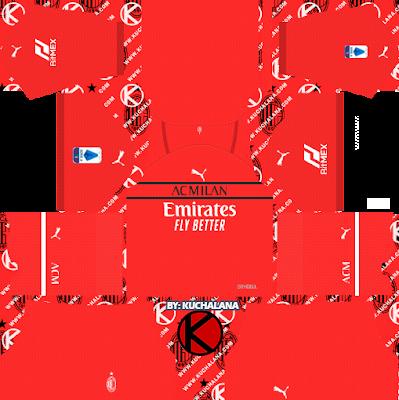 AC Milan Kits 2021/22 -  DLS2019 Kits