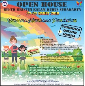 KB-TK Kristen Kalam Kudus Surakarta Gelar Open House 2019