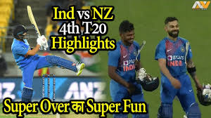 Ind vs NZ 4th T20 highlights 2020, India won back to back super over