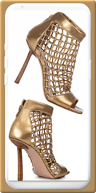 Le Silla Vanessa gold vegan nappa ankle boot #lesilla #shoes #brilliantluxury