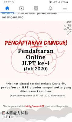 Pendaftaran JLPT Juli 2020 diundur