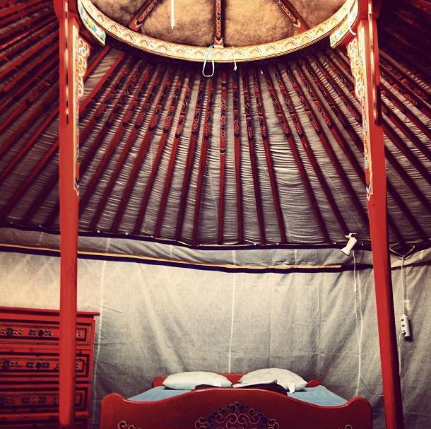 photo de yourt, décoration intérieure