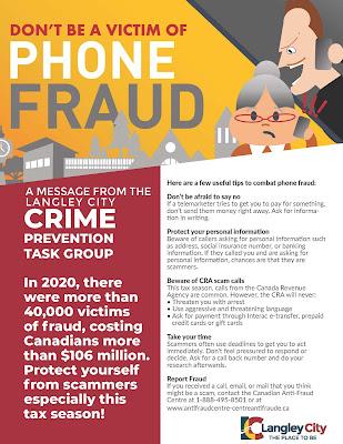 Crime Prevention Task Group Flyer Tip 5 Phone Fraud