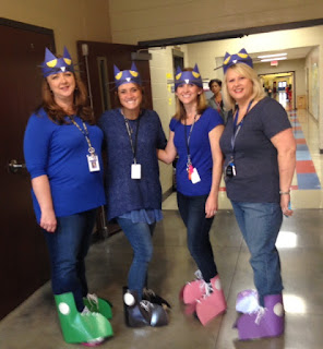 Pete the Cat book character day costumes Halloween teachers