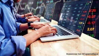 Комиссии топ-10 криптобирж