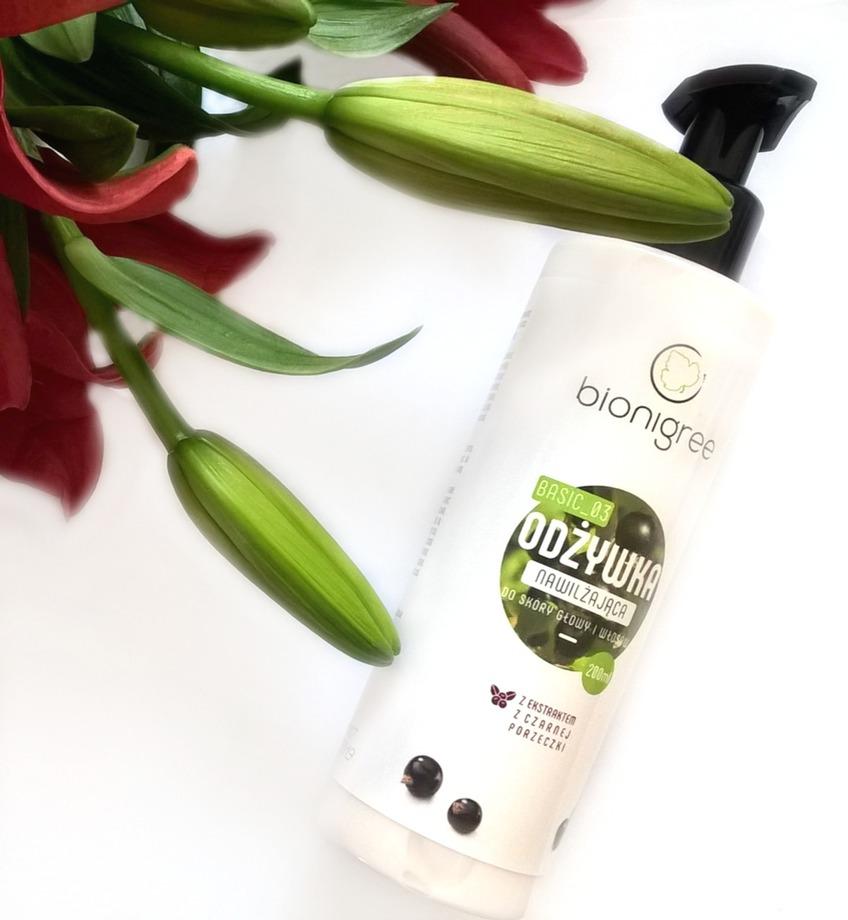 Bionigree, Odżywka nawilżająca do skóry głowy i włosów, recenzja - blog