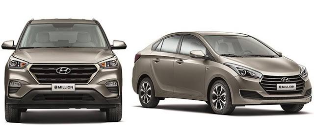 Hyundai já produziu 1 milhão de HB20 e Creta no Brasil