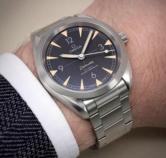 Omega Railmaster Master Chronometer wristshot