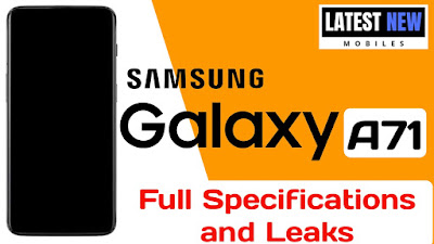 Samsung Galaxy A71 full Specifications