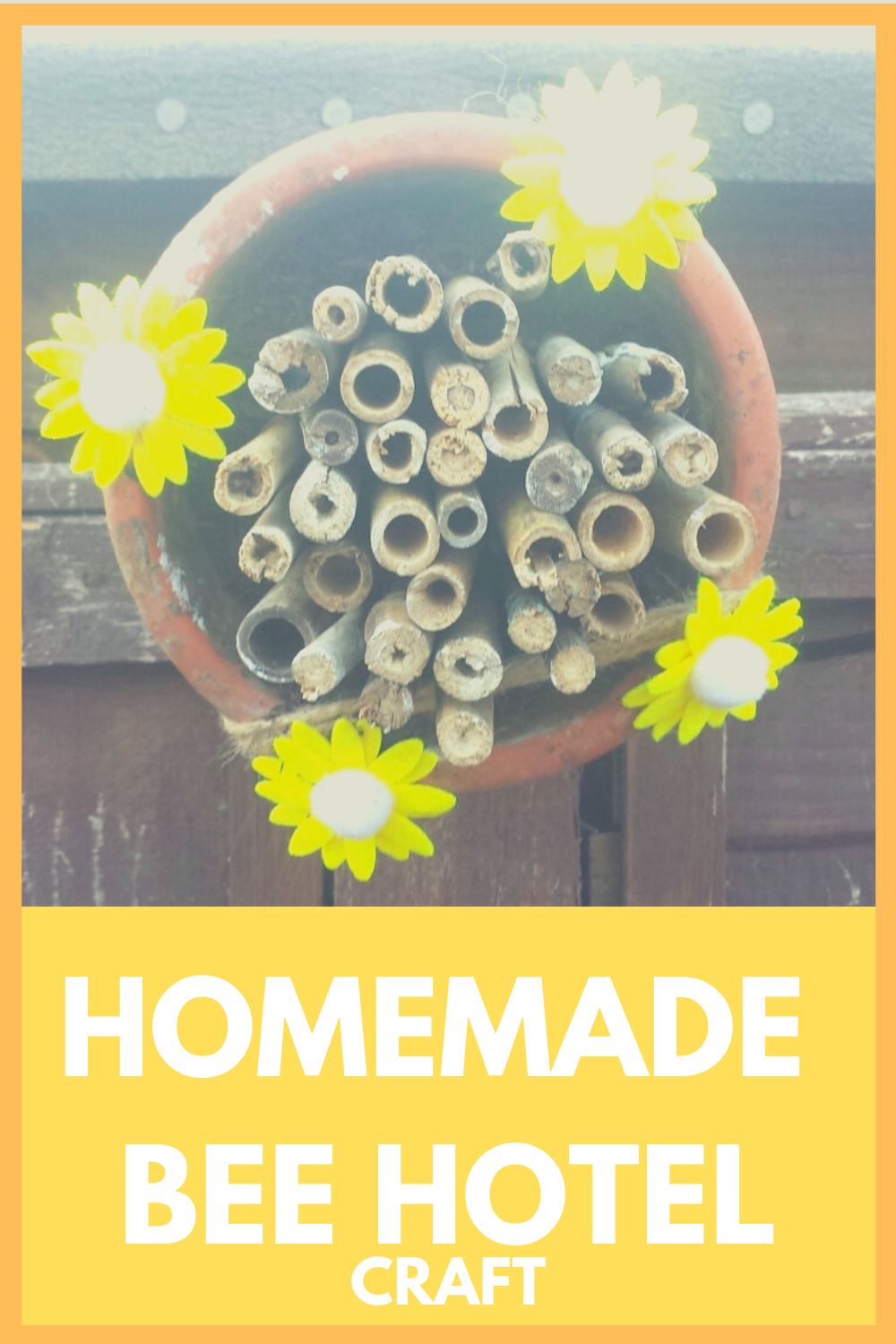 Homemade DIY Bee Hotel Craft