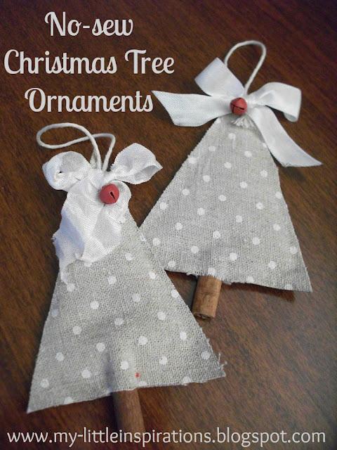 Decorazioni di Natale senza cuciture: Alberi di tessuto e cannella - titolo - MLI