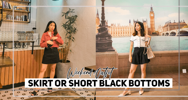 Skirt or Short Black Bottoms | Weekend Outfit