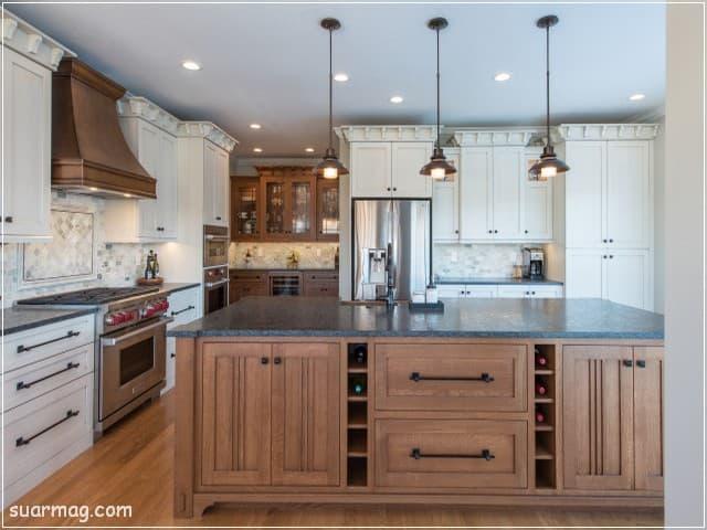 اشكال مطابخ خشب 5   wood kitchens shapes 5