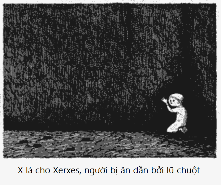 X bang chu cai rung ron