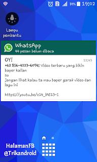 Cara Buat Pesan WhatsApp Tampil di Layar Depan