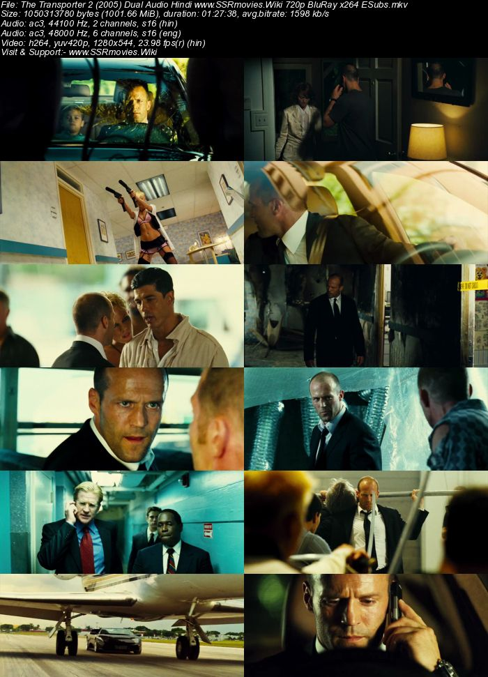 The Transporter 2 (2005) Dual Audio Hindi 480p BluRay 250MB ESubs Movie Download