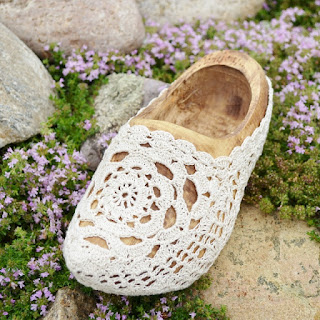 Crochet Wood Shoe by Over The Apple Tree