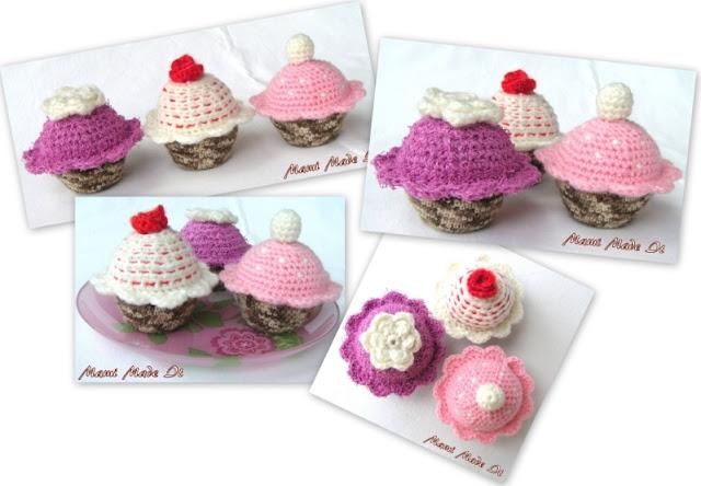 Crocheted Muffins - Gehäkelte Muffins