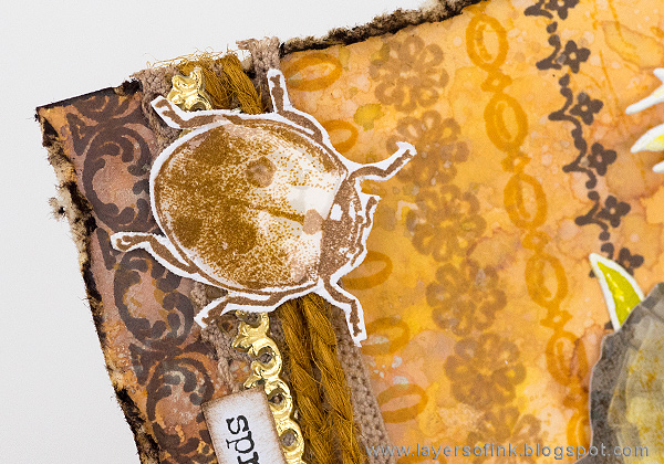 Layers of ink - All Things Made New Spring Tag Tutorial by Anna-Karin Evaldsson with stamps by Tim Holtz