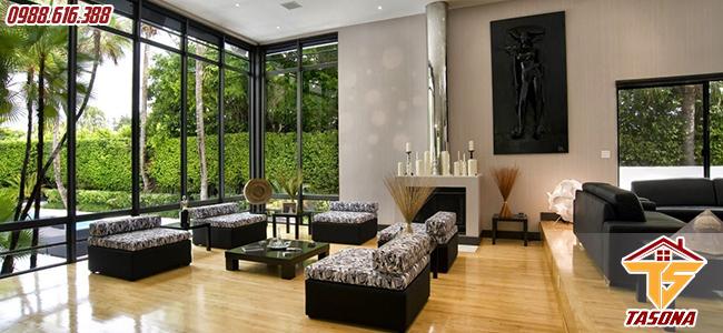 Cửa sổ kính cường lực là một phần không thể thiếu của ngôi nhà