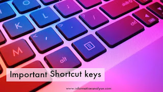 Important Shortcut keys