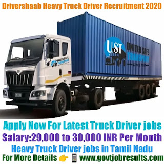 Drivershaab Heavy Truck Driver Recruitment 2020-21