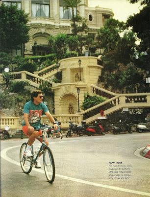 Resultado de imagem para Ayrton Senna de bike