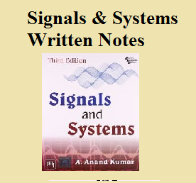 Signals and Systems Written Notes Free Download ~ ECE School