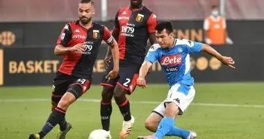مباراة نابولي وجنوي الدوري الايطالي