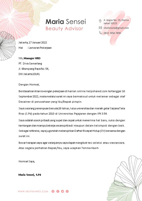 Kop Surat Lamaran Kerja 15
