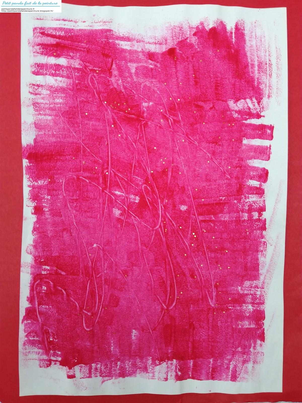 Peinture Avec Paillettes Peinture Fêtes De Noël Peinture Enfant 2 Ans