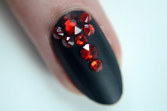 swarovski crystals matte nails tutorial winter gothic