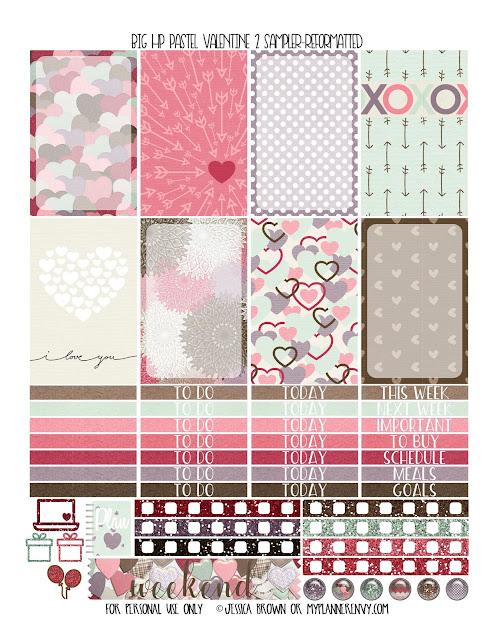 Free Printable Pastel Valentine 2 Sampler for the Big Happy Planner from myplannerenvy.com