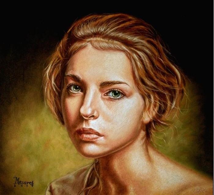 Сербский художник. Jozi Mesaros
