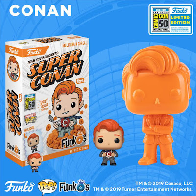 San Diego Comic-Con 2019 Exclusive Conan O'Brien POP! & FunkO's Vinyl Figures by Funko