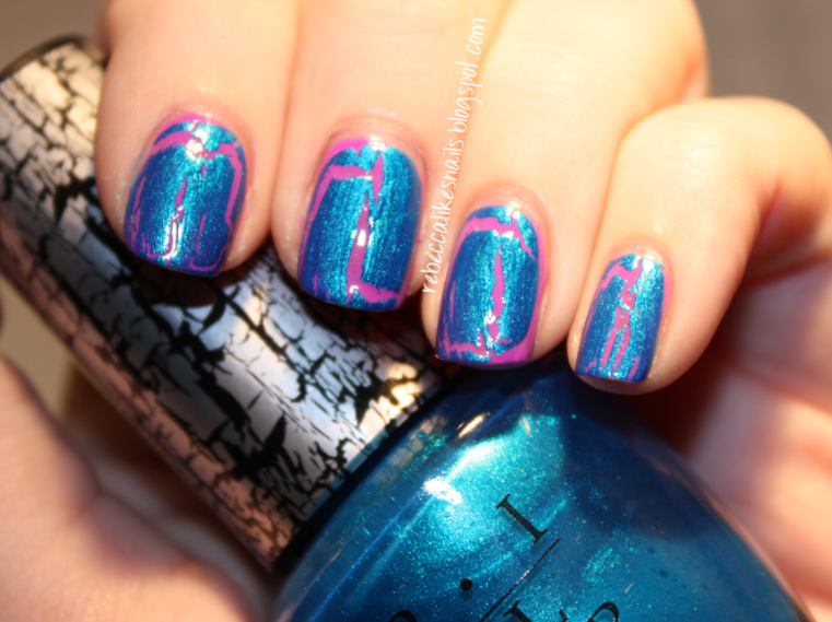 shatter polishes rebecca likes nails opis day of shatter featuring turquoise