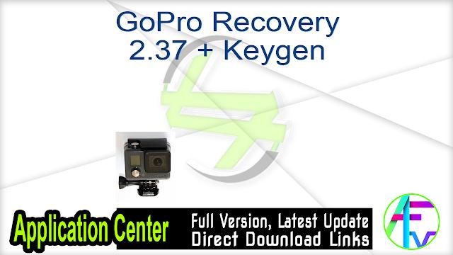 GoPro Recovery 2.37 + Keygen