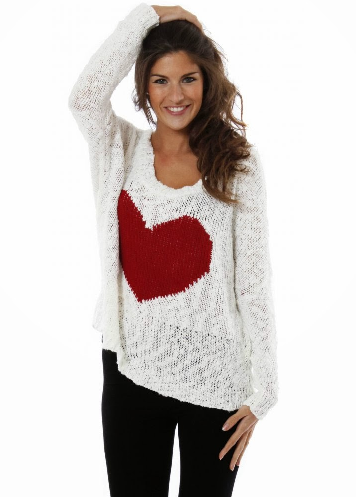 Divna S Sweaters Knitted Heart Enjoy Your Valentine S Day
