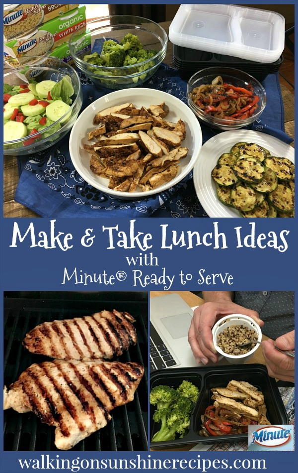 Easy Make and Take Lunch Recipe Ideas from Walking on Sunshine.