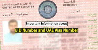 UID Number, UAE Visa Number, Unified number, How to found visa number on uae visa
