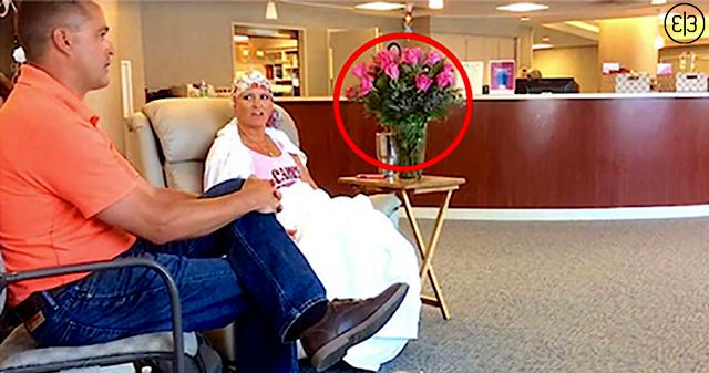 Мужчина привез свою онкобольную жену на последнюю химиотерапию. А теперь внимание на букет роз!