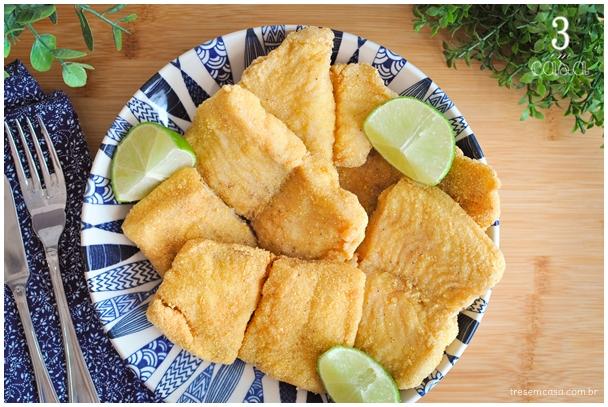 peixe frito no fubá receita