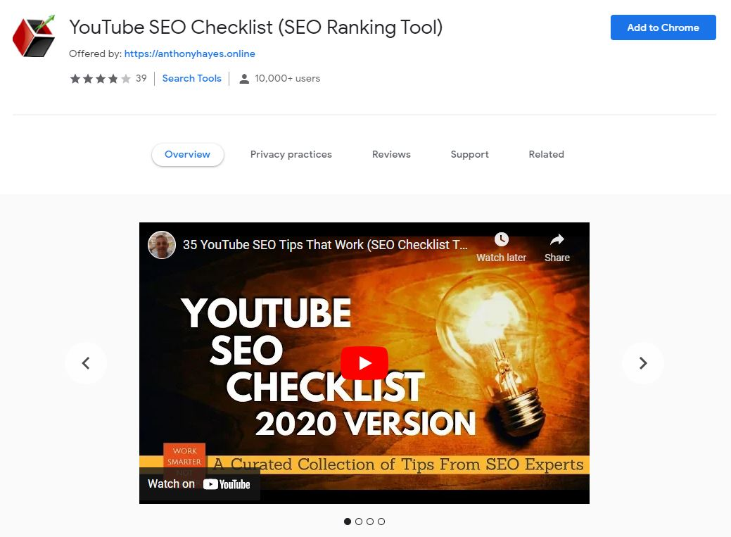 YouTube SEO Checklist (SEO Ranking Tool)