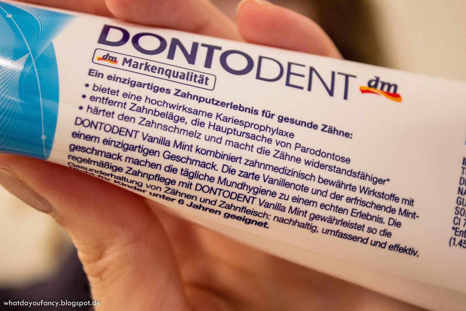 dm Dontodent Vanille-Minz-Zahncreme im Praxistest