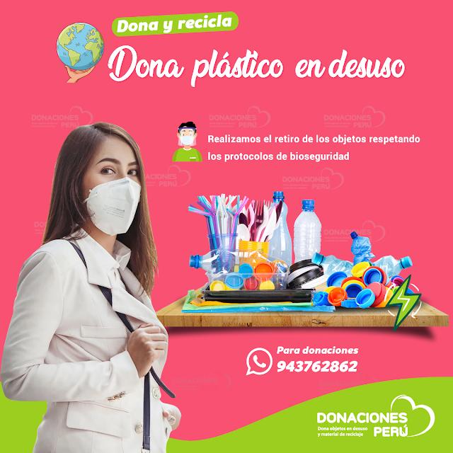 Dona objetos de plástico en desuso en Lima
